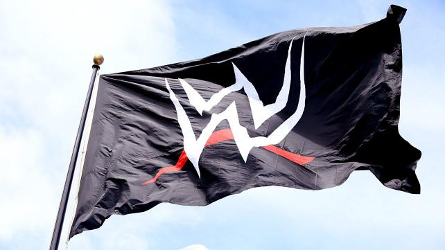THE FLAG ON THE ROOF THE STAMFORD, CT WWE HEADQUARTERS. PHOTO VIA WWE