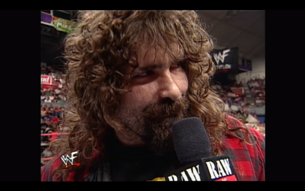 MICK FOLEY CUTTING A SUPERB PROMO YOU WON'T FIND IN ANY MONTAGE OR DOCUMENTARY - YOU NEED TO SEE THE EPISODE FOR YOURSELF