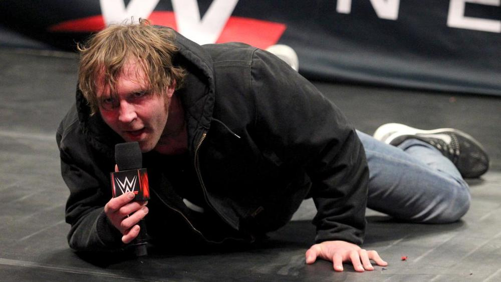 DEAN AMBROSE CHALLENGES BROCK LESNAR TO A STREET FIGHT AT WRESTLEMANIA