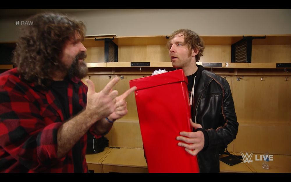 """MICK FOLEY """"PASSES THE TORCH"""" TO DEAN AMBROSE"""