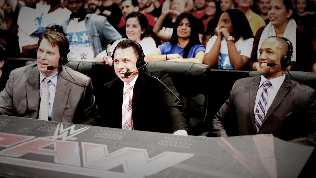 JBL, MICHAEL COLE, BYRON SAXTON (PICTURED LEFT TO RIGHT) ALL PHOTOS VIA  WWE