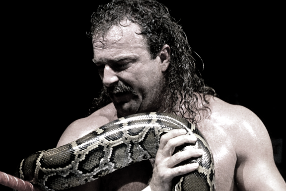 """JAKE """"THE SNAKE"""" ROBERTS - widely regarded as the best """"psychologist"""" in professional wrestling. Photo via WWE."""