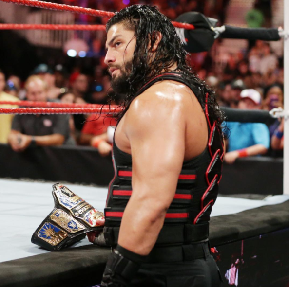 ROMAN HOLDS THE US TITLE AFTER ATTACKING RUSEV VIA @real.reigns