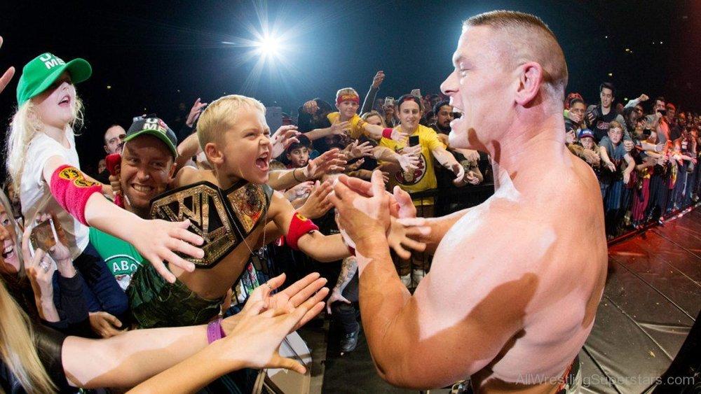 John Cena with the fans.