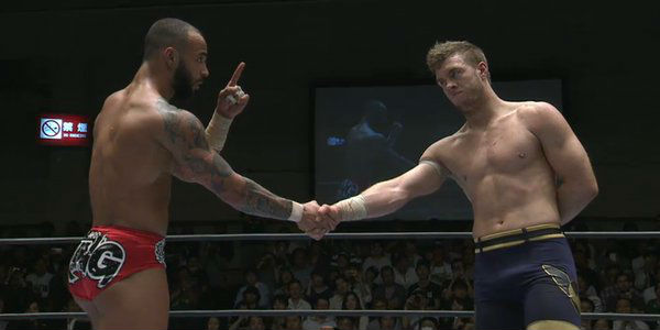 Ricochet (left), Will Ospreay (right)