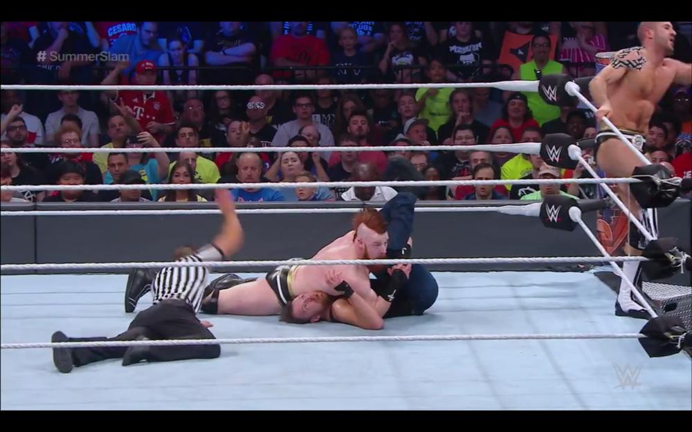 Summer Slam 2017, Dean Ambrose & Seth Rollins vs Cesaro & Sheamus