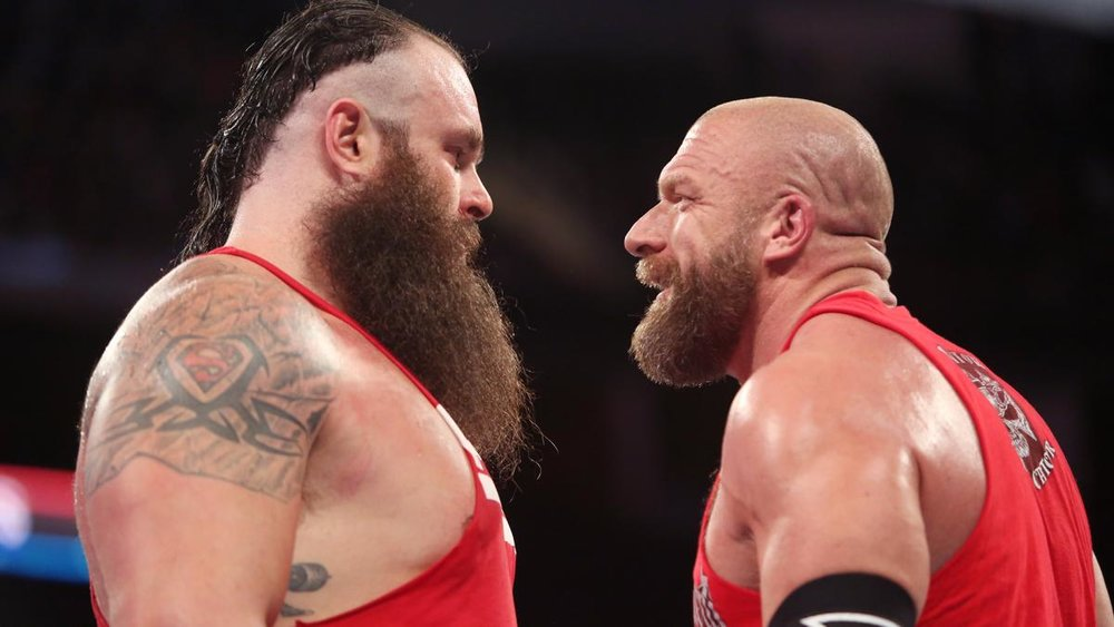 Braun Strowman faces off with Triple H.