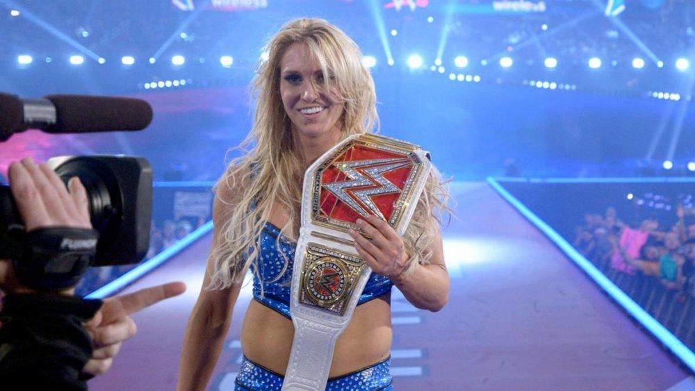 Charlotte, the last Diva's Champion, at WrestleMania 32.
