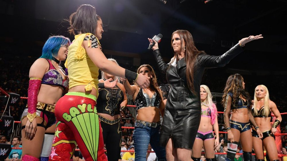 Stephanie McMahon embraces the women's roster on Raw