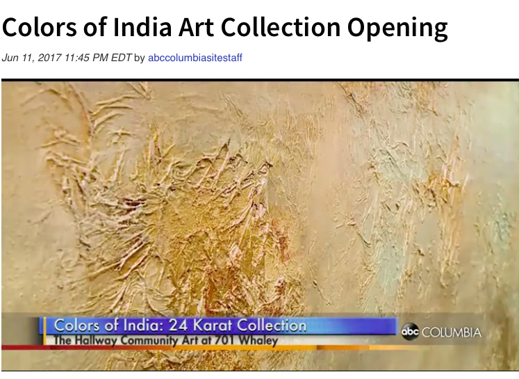 CLICK to WATCH    http://www.abccolumbia.com/2017/06/11/colors-india-art-collection-opening/