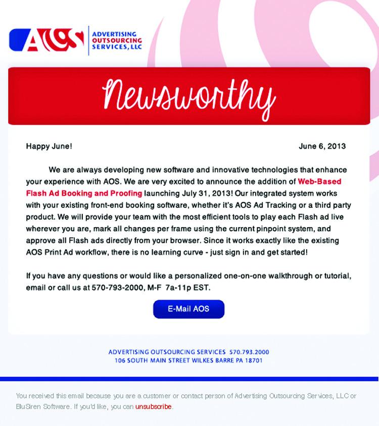 Newsletter E-Blast