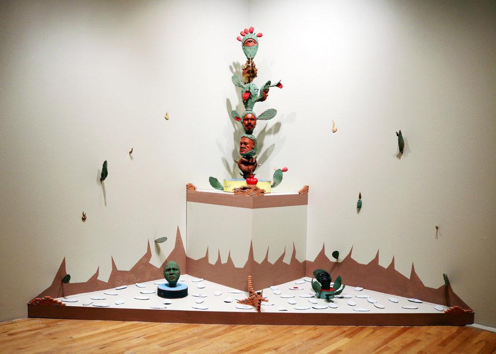 Courtesy National Museum of Mexican ArtSalvador Jiménez-Flores, La Resistencia de los Nopales Híbridos (The Resistance of the Hybrid Cacti) , 2017