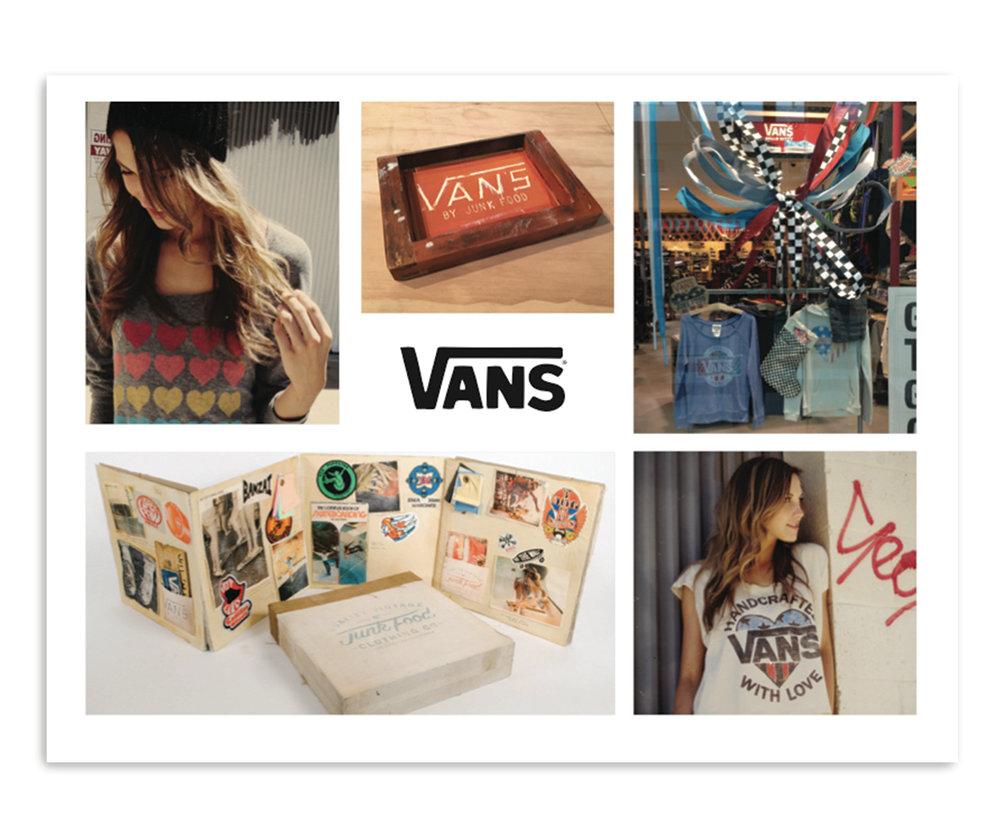 Junk Food Clothing x Vans Campaign Photography and Design