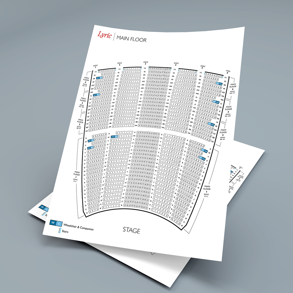 Lyric Opera of Chicago: Seating Charts   Data Visualization, eCommerce