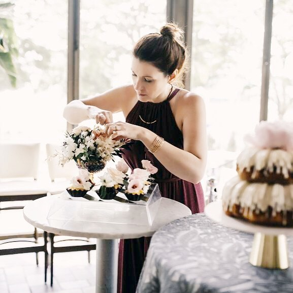 Here is a rarely seen photo of me performing a little floral surgery from the Behind The Scenes blog @foreverbride ! The link to the full blog is in our profile if you'd like to check out more of the entire crew at work. #iamforeverbride