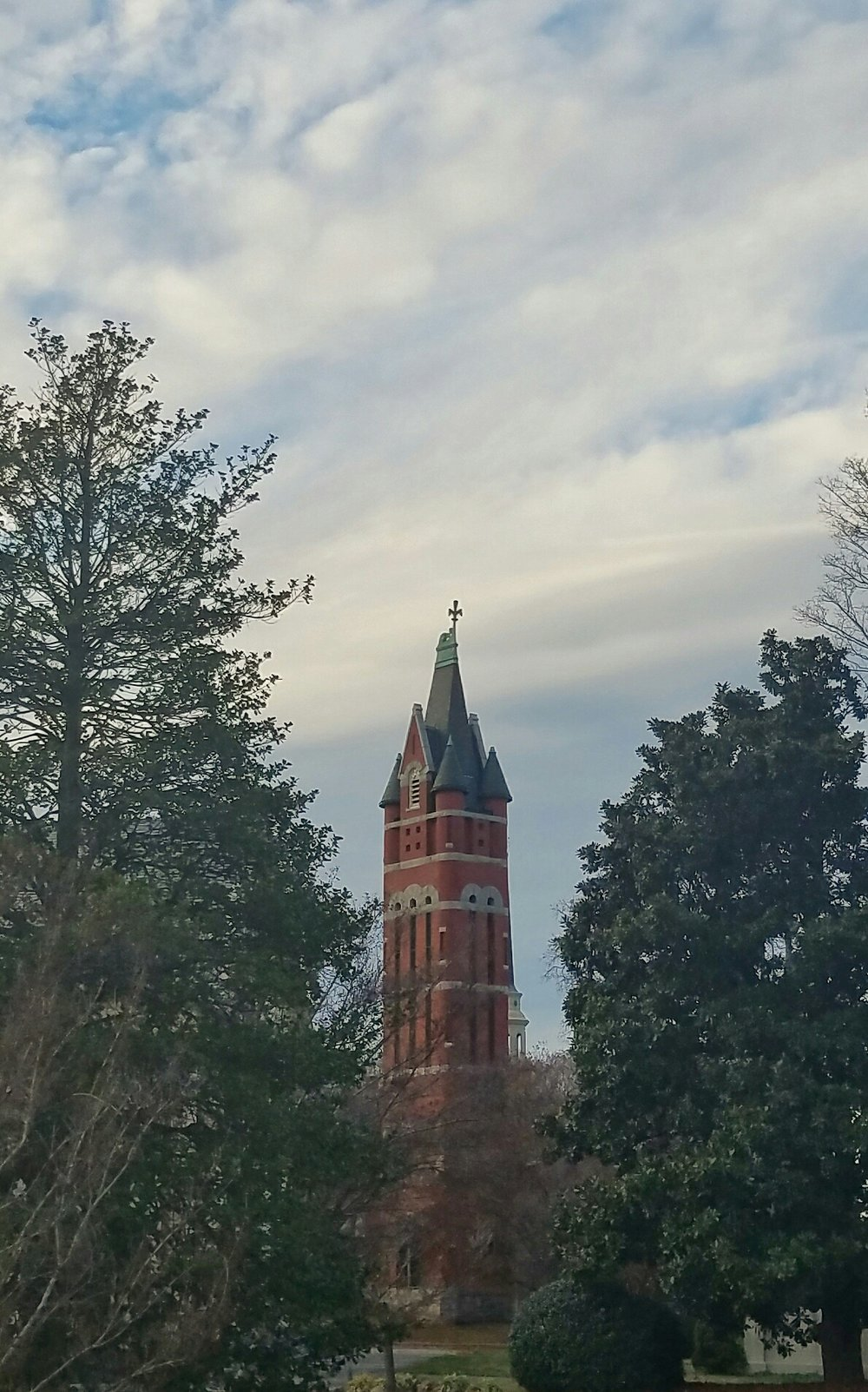 A photo of Salisbury's belltower taken on my smartphone on Dec. 8. it's one of my favorite buildings in the city.