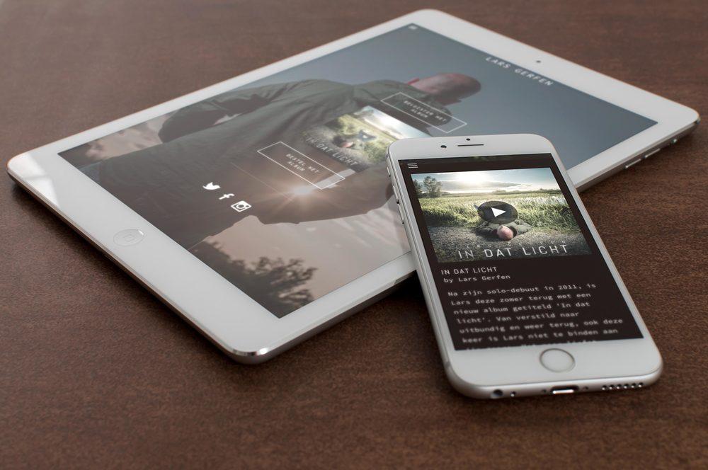 website & album cover  LARS GERFEN