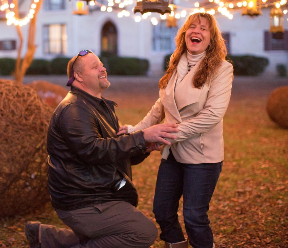 Laughing Proposal | Callie Weddings | Abbeville, SC