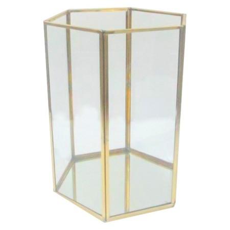 Brass Glass Terrarium Lantern Candle Holder Callie Weddings Events