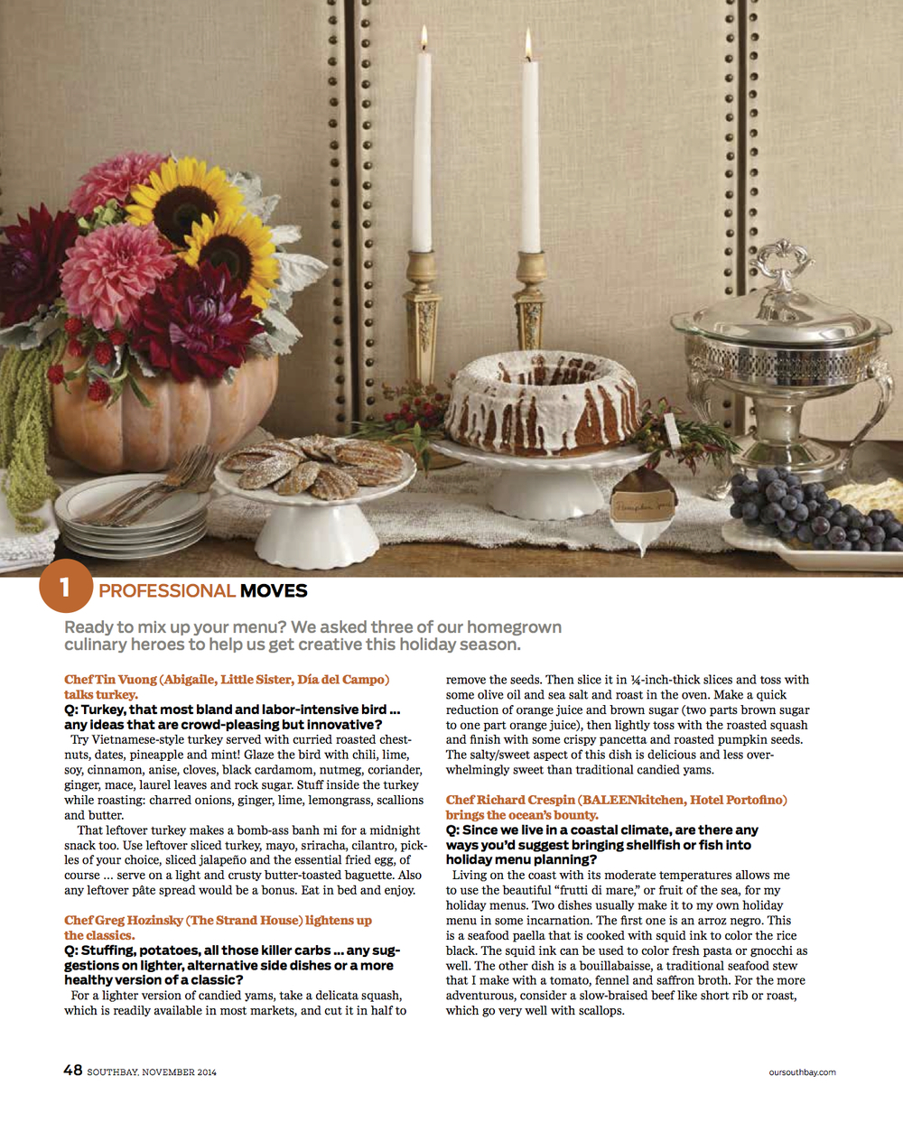 FALL ENTERTAINING FEATURE