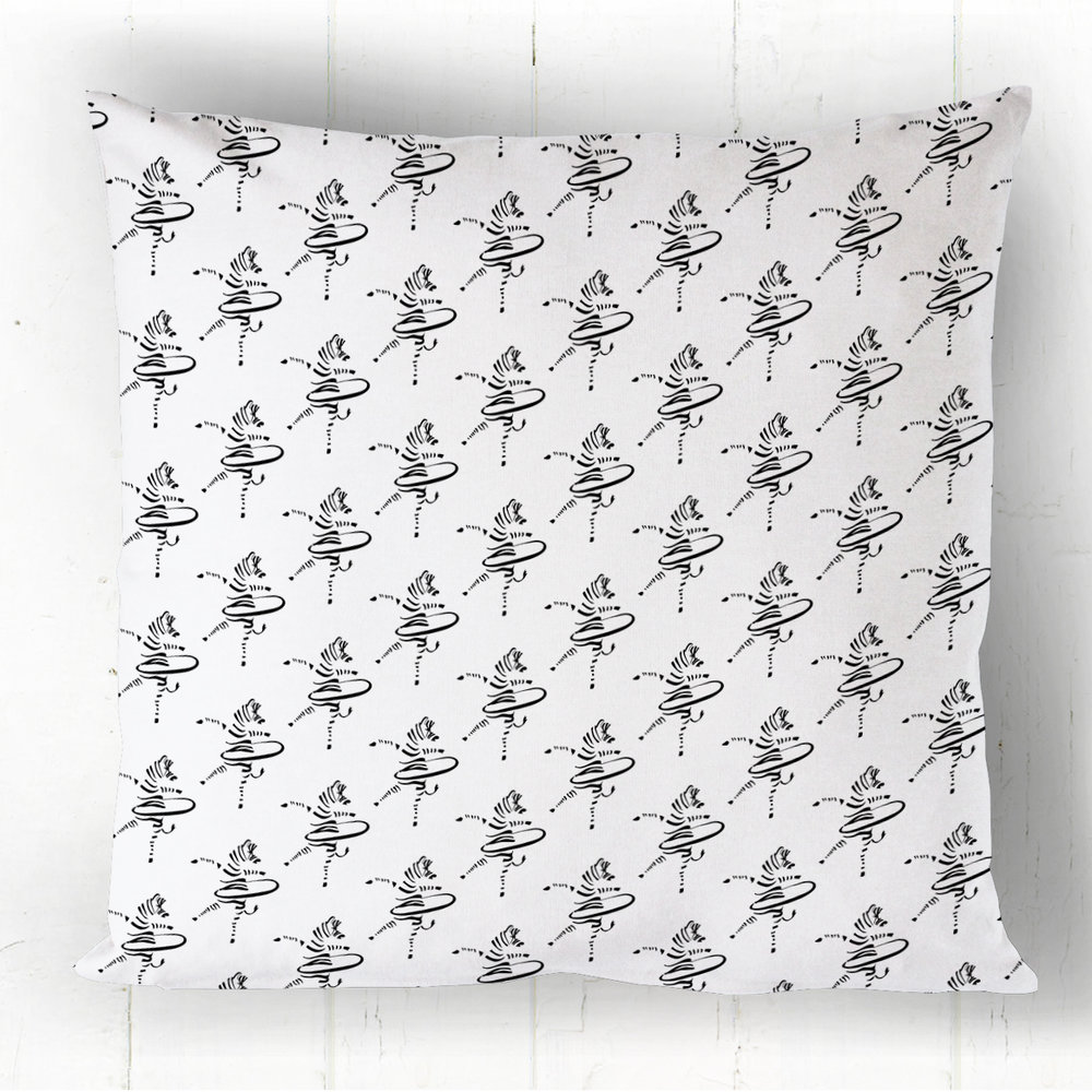 Hula-Hoop Zebra Pattern Cushion Cover