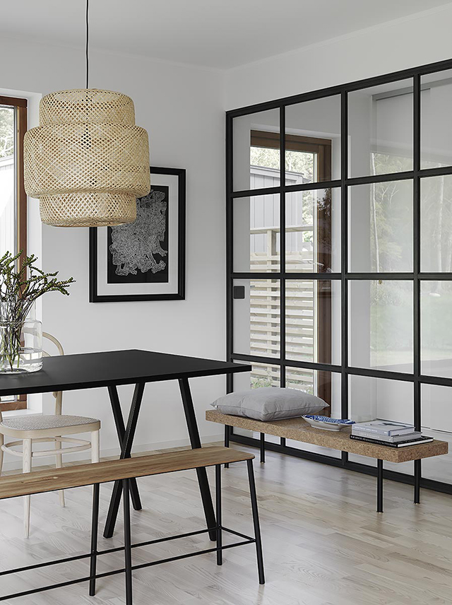 Black-steel-framed-indoor-windows.-IKEA-Sinnerlig-pendant-and-coffee-table.jpg