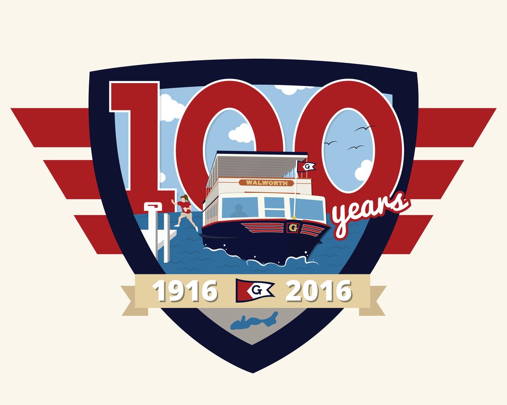100 Years of the Mailboat | Adobe Illustrator