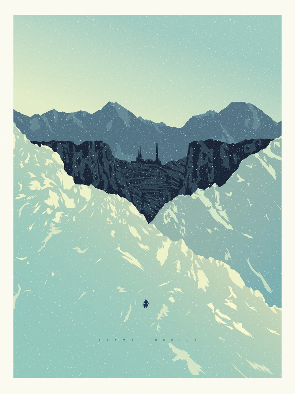 Batman Begins Poster (Recreation of a poster by Kevin Tong) | Adobe Illustrator