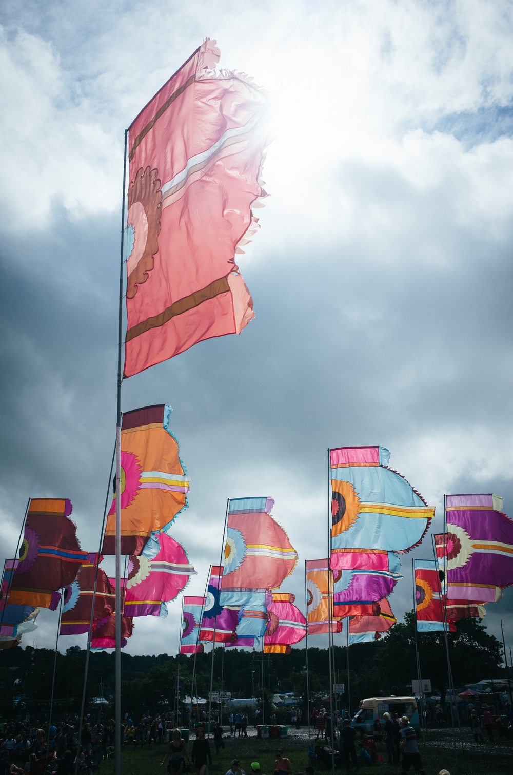 Famous Glastonbury flags - Clifford darbh 2016