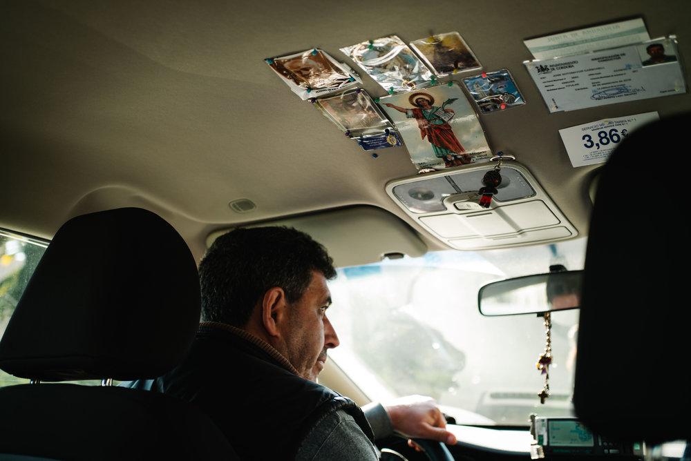A taxi driver, Córdoba. Spain. 2017.