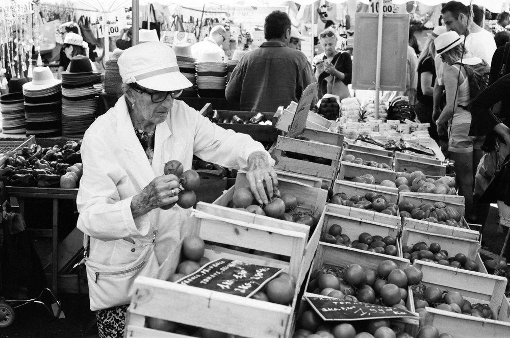 Place des Lices 'Provencal' Market, St. Tropez. France. 2017.