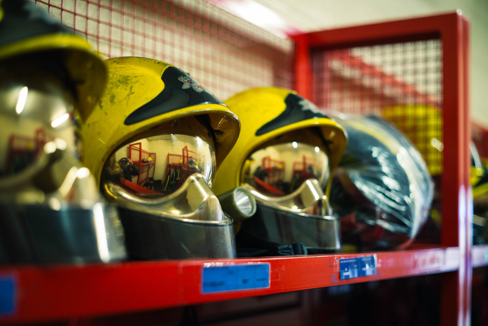 Fire helmets - Clifford Darby 2017
