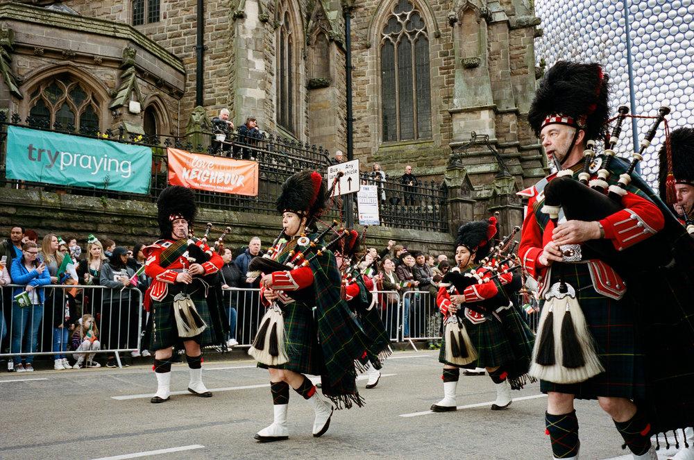 Saint Patrick's Day Parade, Birmingham. United Kingdom. 2017.