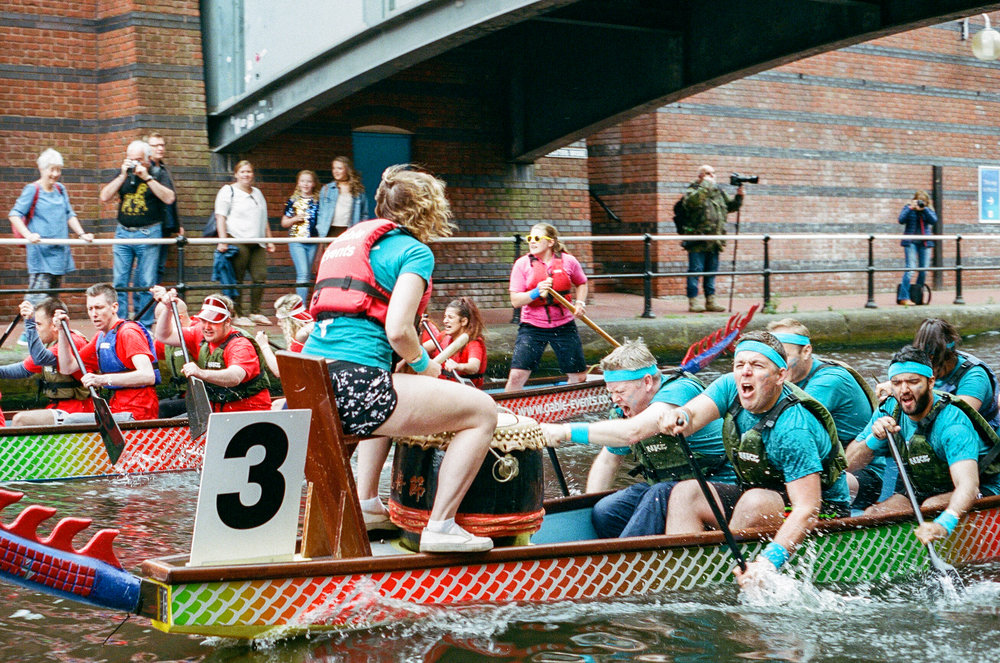 Brindleyplace Dragon Boat Race, Birmingham. United Kingdom. 2017.