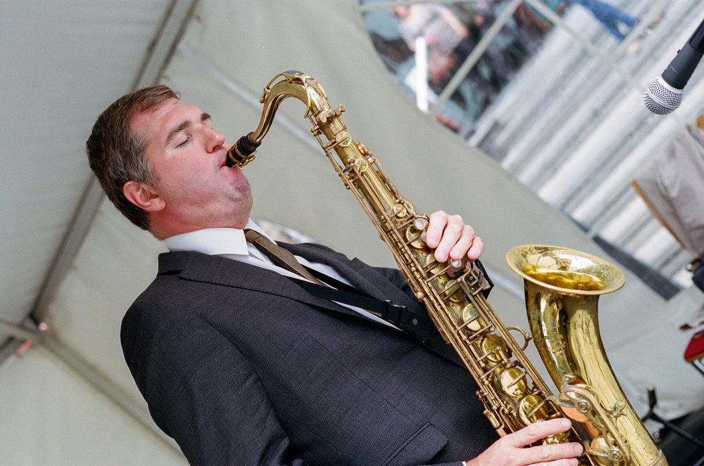 Simon Spillett with John Patrick Trio, Birmingham, Solihull & Sandwell Jazz Festival. Birmingham, United Kingdom. 2017.