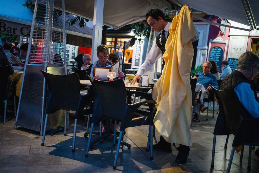 Dinner service, Seville. Spain. 2017.