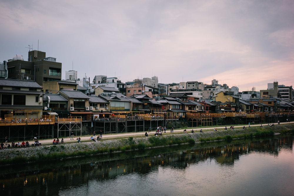 Kamogawa River, Kyoto. Japan. 2017.