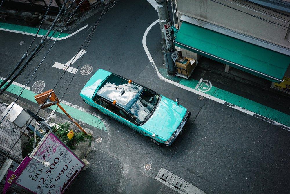Taxi, Tokyo. Japan. 2017.