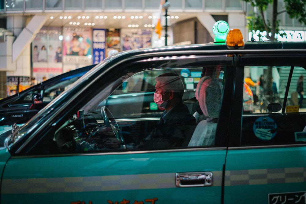 Taxi driver, Tokyo. Japan. 2017.