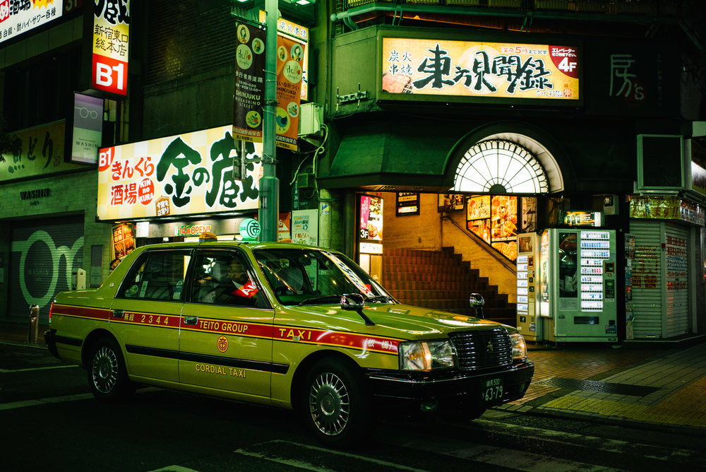 Shinjuku taxi cab, Tokyo. Japan. 2017.