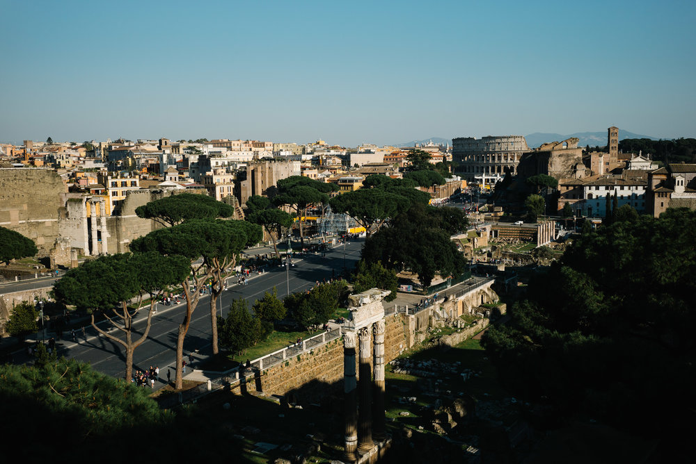 The Colosseum from the roof of the Altare della Patria - Clifford Darby 2019