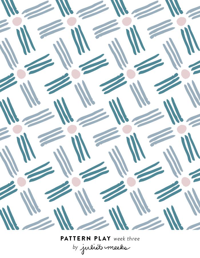 Pattern Design | Line Criss Cross Handmade