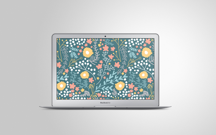 Free floral desktop wallpaper!