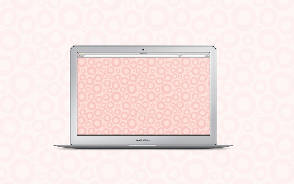 Free desktop wallpaper! Pink brushstroke circles.