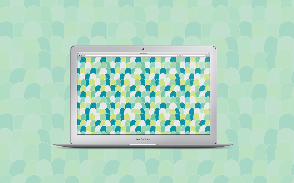 Scallops pattern + free desktop wallpaper