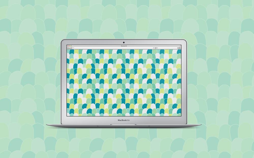 Scallops pattern + free desktop wallpaper