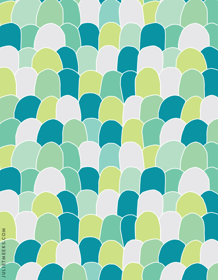 Scallops pattern + free desktop wallpaper!