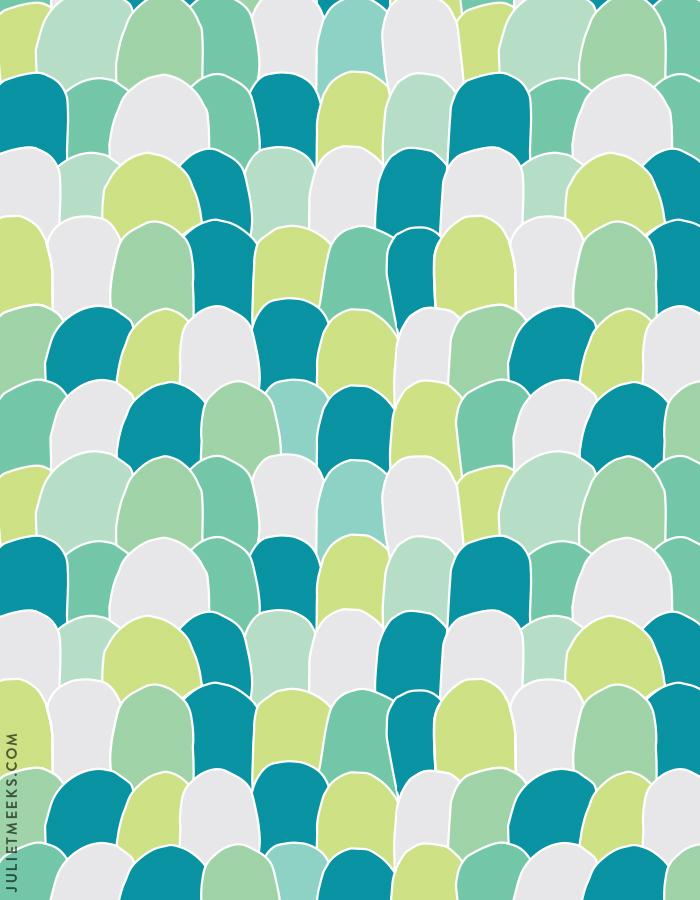 Scallops pattern + free desktop wallpaper!