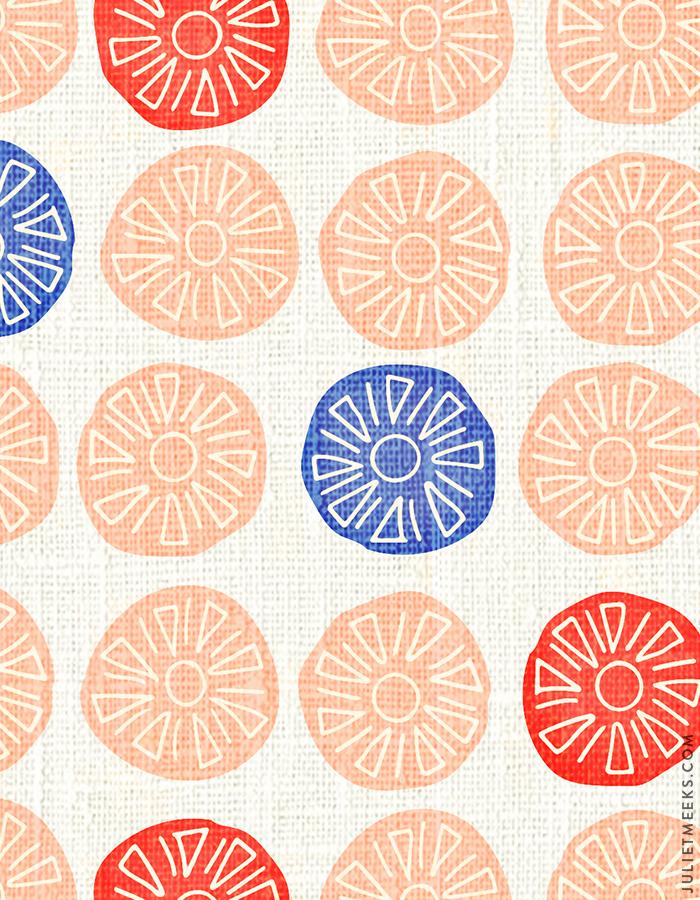 Alexander Girard Inspired Textile Pattern