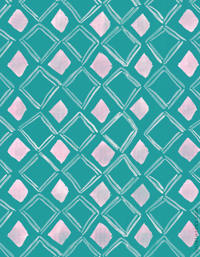 Watercolor diamonds pattern